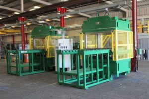 60 x 60 400 Ton Bank of Two Presses with Shuttle